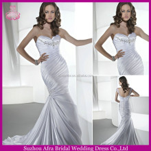 SD1002 white mermaid wedding dresses designer bridal dress cheap bridal mermaid dress pattern