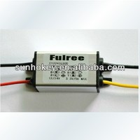Waterproof DC-DC12V24V to 3.3V3.7V4.2V5V6V7.5V9V5A buck car power converter