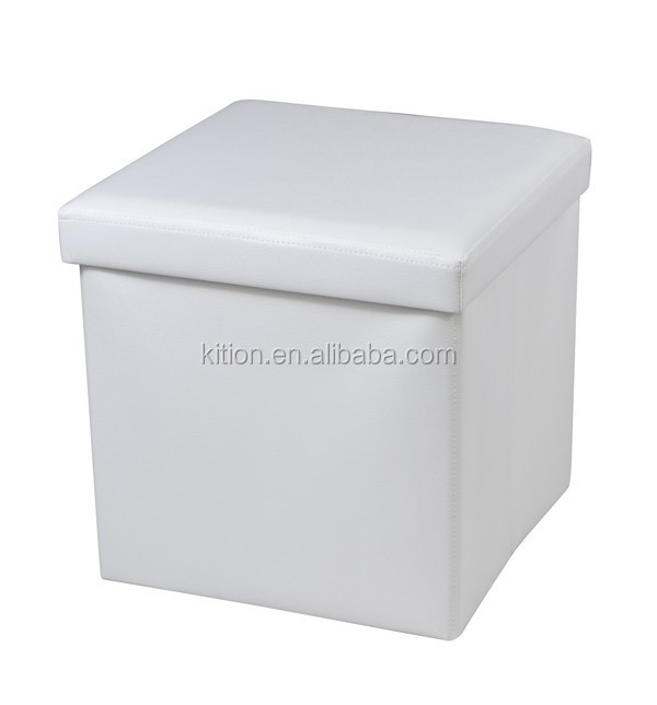 2015 PVC leather folding storage ottoman home storage stool