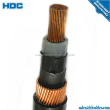 High Standard Single Core Al/Cu / Cws/XLPE Power Cable 1/0 2/0 15kv Urd Made in China