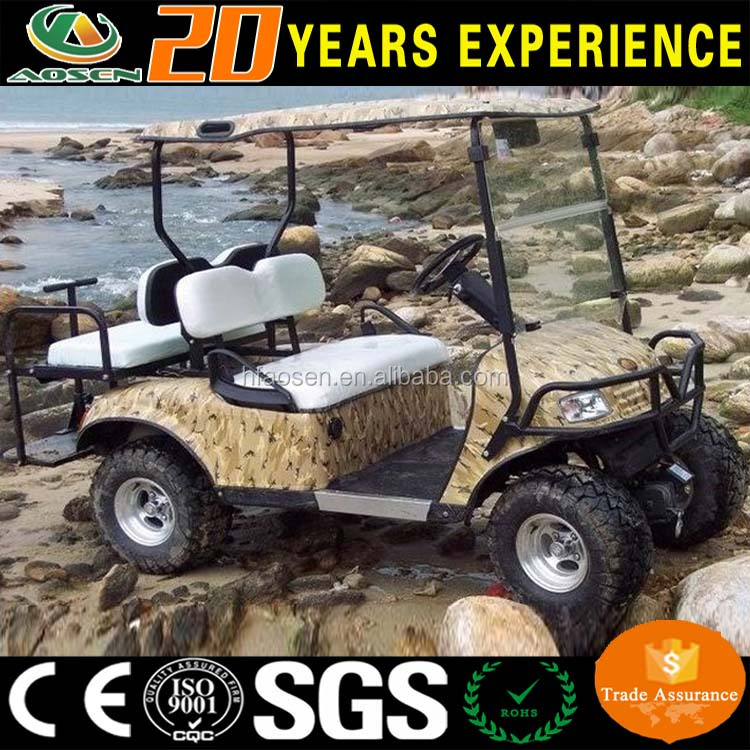 New design camo 4 seater gas golf cart bodies golf buggy for sale