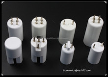 UV lamp cap 95% alumina ceramic lamp parts industrial