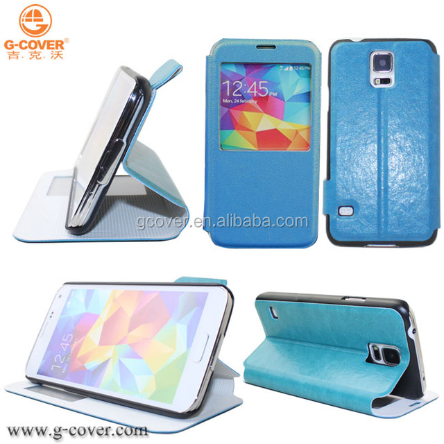 New brand G-COVER factory price high quality pu leather case for samsung s5