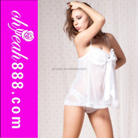 Hot selling wholesale China factory ready stock women mini black lace nighty lingerie girls hot pajamas sexy