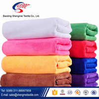 professional supplier wholesale bright color absorbent microfiber bath towel
