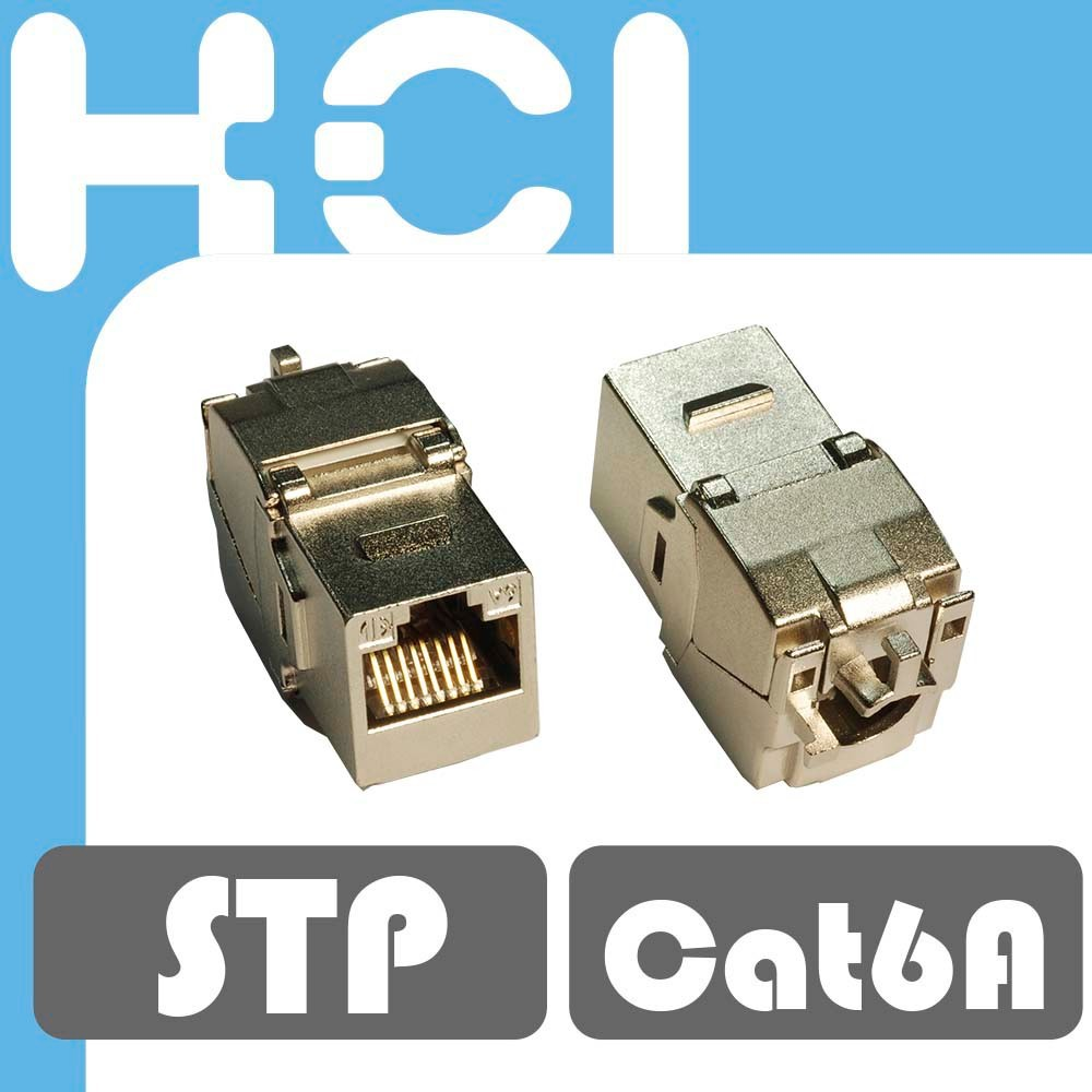 RJ45 STP 8P8C Connector Slim Version Cat6A Keystone Jack