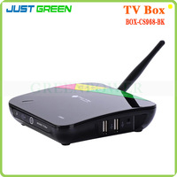 RJ45 Android Smart TV Box CS968 Android 4.4 Transmission:2.4G wireless remote control Location:IR or G-sensor