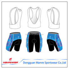 2017 Sublimation Coolmax Cycling Wear , Cycling Pads Chamois Shorts , Cycling Jersey Bib Shorts