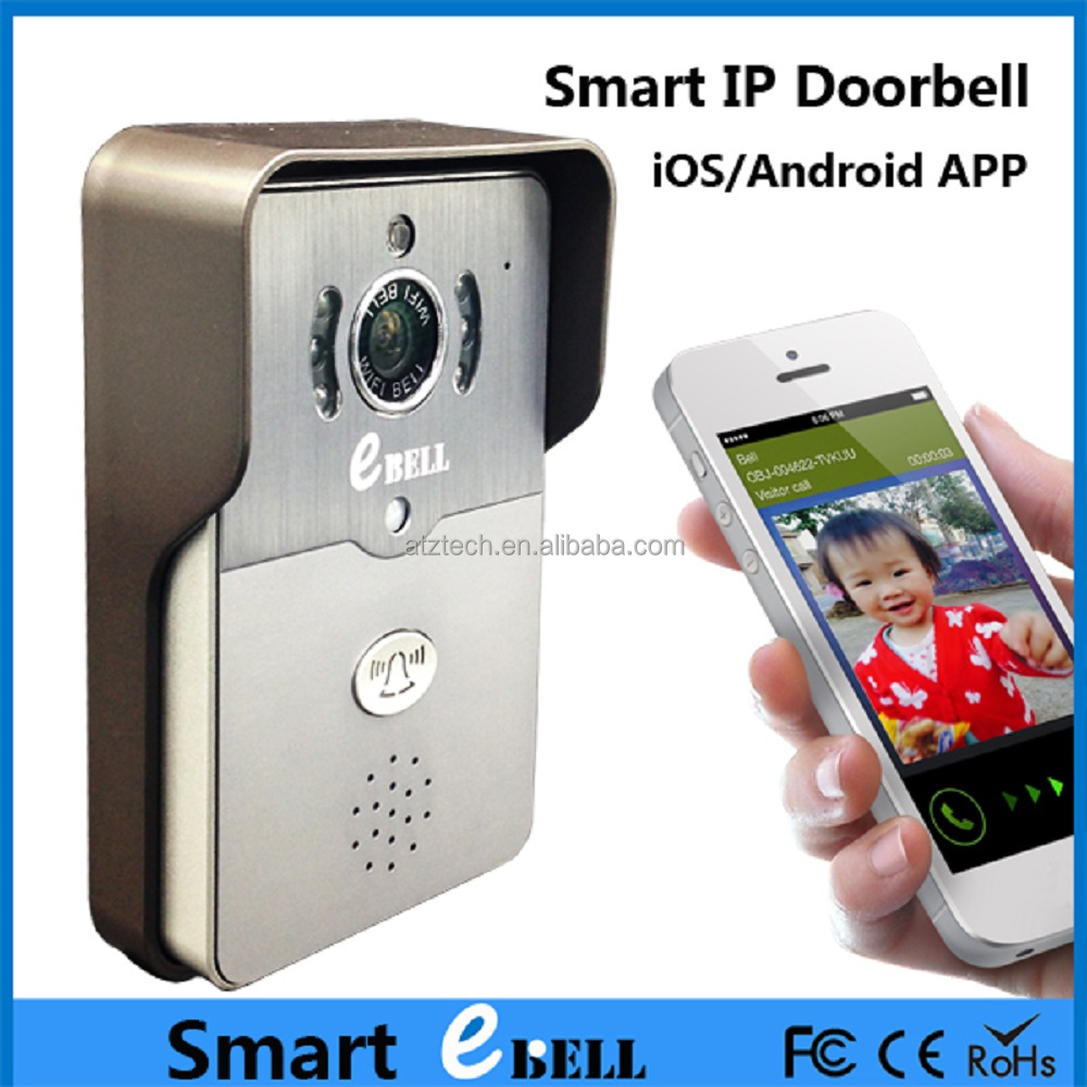 ATZ Home Security Intercom Wireless Video Doorbell Camera Support PIR Alarm To Smartphone With HD Camera To Monitor Your Door
