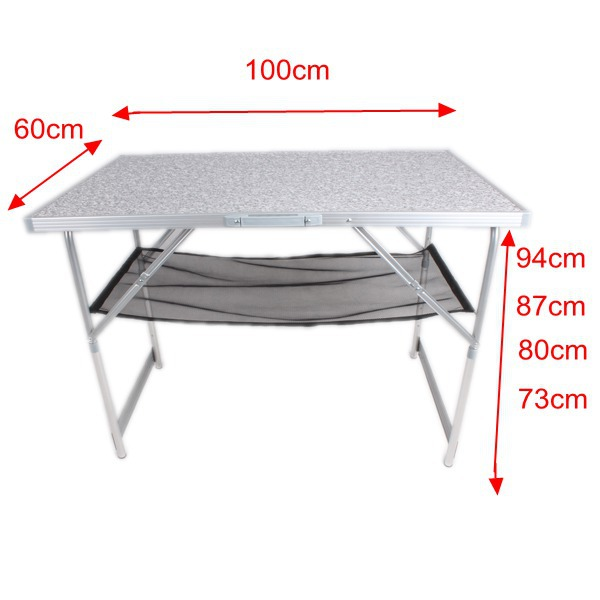 1m Height Adjustable aluminium lift top coffee table