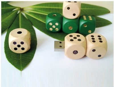 Dice Shape Wooden USB Flash Drive 2GB 4GB 8GB