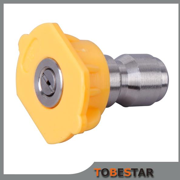 15 Degree Spray Tip Pressure Washer Nozzle Yellow Quick Connect