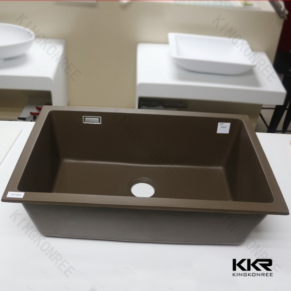 New design quartz stone single sink for kitchen