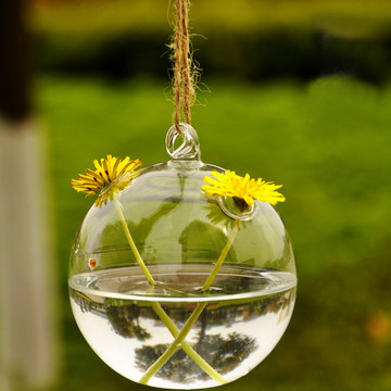New Design unique hanging crystal glass flower vases, air plant glass terrarium for wedding centerpiece decor