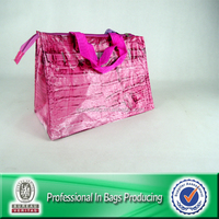 Custom Cheap Recyclable Bopp Laminated Zipper Woven Bag