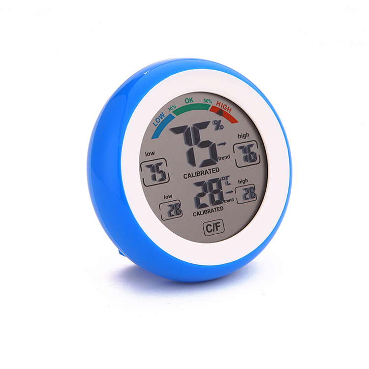 History Digital Mini LCD Thermometer Different Color Weather Station Temperature Humidity Sensor