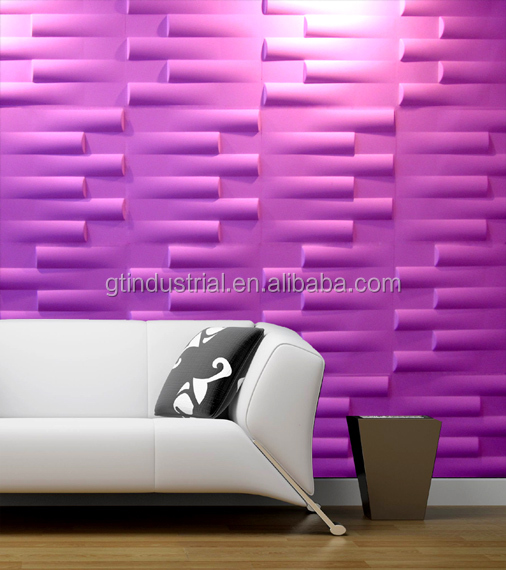 New fashionable design decorative plastic pine look wall board 3d design wave pattern wall paneling