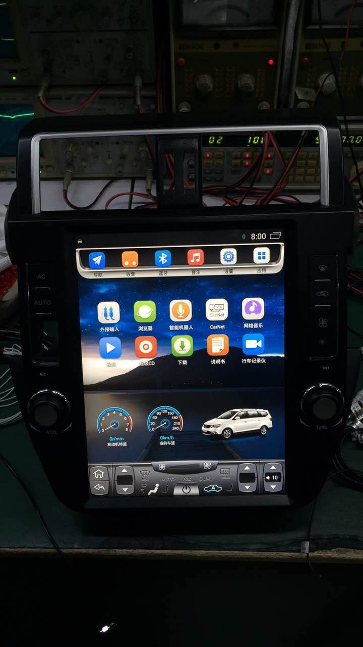 Android 4.4 car dvd with 12.1 vertical car dvd for Toyota Prado car dvd