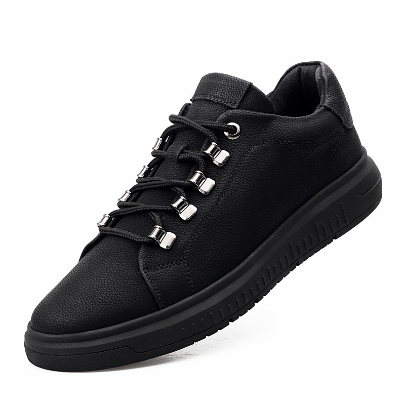 Autumn New Fashionable Leather Lace Up Men's Shoes Non-Slip Low Top Casual Shoes