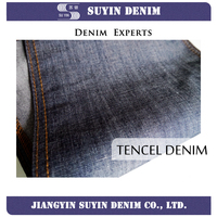 Tencel+flax denim fabric ,fashion fabric jeans for gament