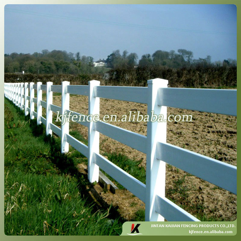 Vinyl post and rail horse fence