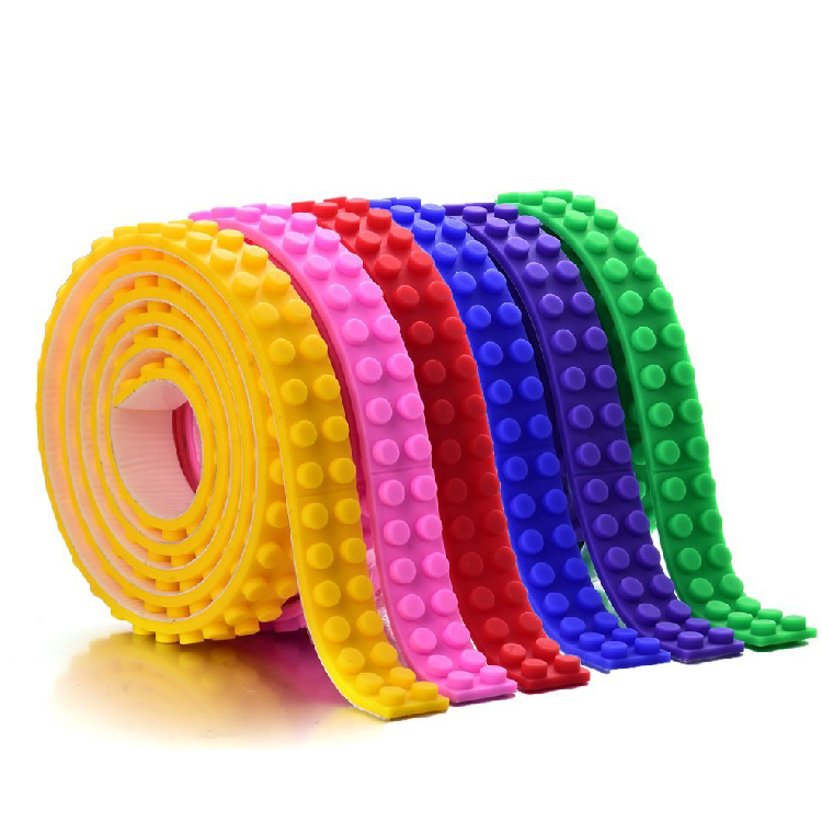 Wholesale Building Block Compatible Baseplate Tape/Building Brick Toy Block Adhesive Tape for Child Educational Toys