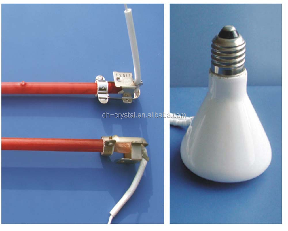 electrical infreRed heat lamps heating elements tube heating elements lamp halogen heating lamps with CE ROHS
