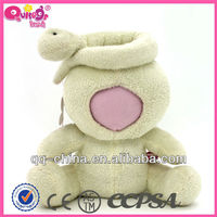 plush animal toy 3d face doll