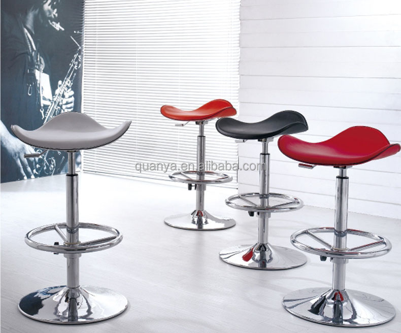 Bar Chair Fashionable PVC Leather Lift Bar Stools Noble Swivel Bar Chair with Metal Frame