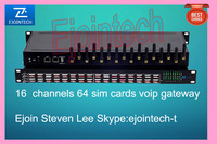 16 port 64 sim cards gateway, voip gateway, vos access remote route.16 port