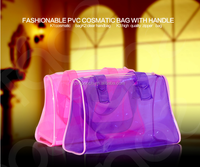 2015 China manufactory clear cosmetic pvc transparent elegance lady hand bag for woman