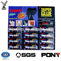 3ml Super Glue Gel Metal/Vinyl/Glass/Rubber/Plastic 12 Tubes