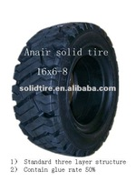 Anair forklift industrial wheel loader resilient rubber solid tire