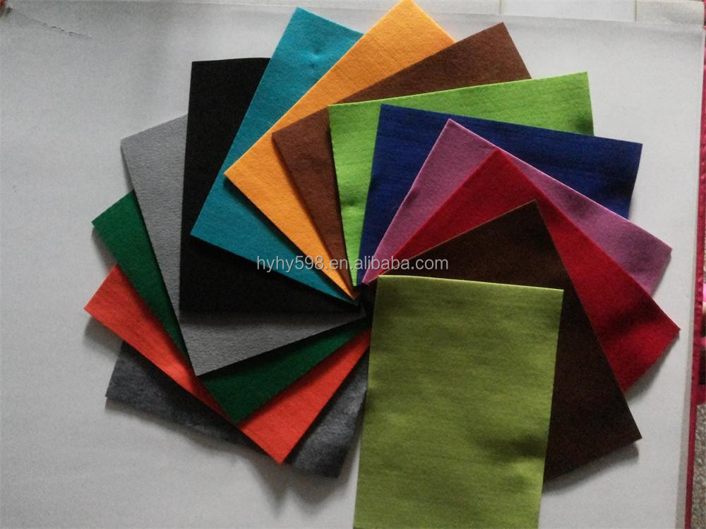 15080304 Wholesale Nonwoven Fabric Color Polyester Felt