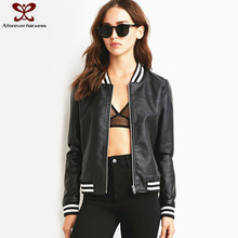 New Korean Style Long Sleeve Fashion Softshell Life Women Leather Jacket