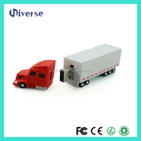 3d Customize Truck Corporate Gift ,pvc truck shape u disk usb flash pen drive