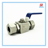 oil and gas media high pressure stainless steel single ferrule ball valve