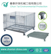 collapsible folding warehouse logistic wire mesh storage cages