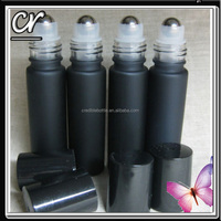 Empty Black Roll On Bottles 10 ml for essential oils, tinctures, lip balm & Mo