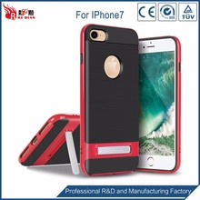 Attractive appearance dark red phone case for iphone 7,kickstand mobie case for iphone 7