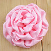 7.5 cm Satin Ribbon Rolled Flowers For Headbands Making Baby Girls Yiwu Market China Flowers