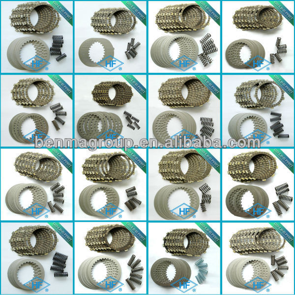 Dirtbike clutch kits including clutch plate, pressure plate and spring