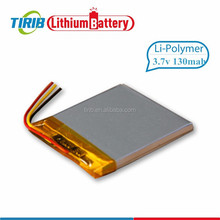 High Energy Density Rechargeable 3.7v 130mah Lipo Battery With Small Size