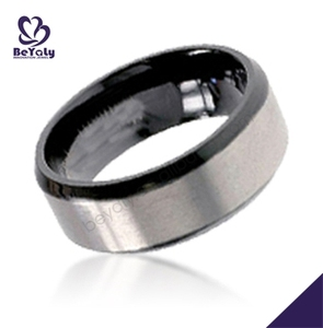 fashion alibaba wholesale stainless steel diamond ring black band