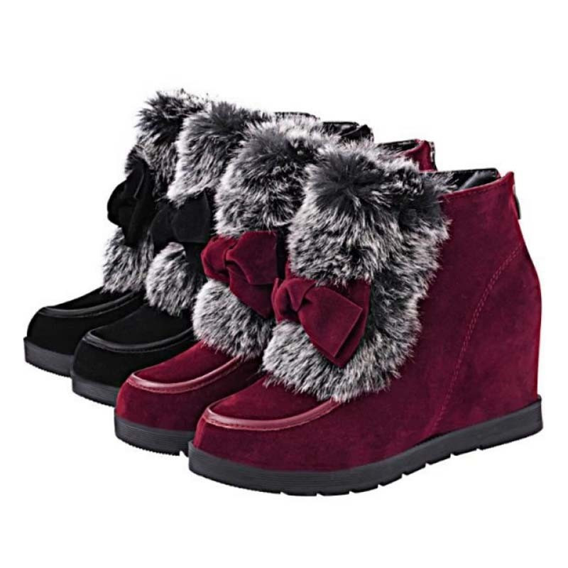 SAA2021 2014 winter new design ladies fashion bow knot cotton short boots