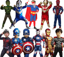2017 New 3D Muscle High Quality Kids Fancy Dress Superhero Cosplay