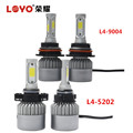 Newest design 3 sides 80W led headlight h4 hi/lo creative headlight exporter
