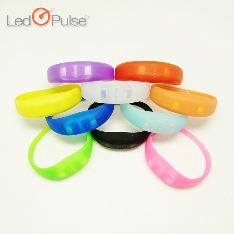 LED PULSE Motion sensor light up wristbands bracelets