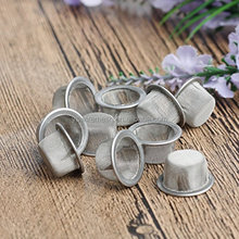 2017 Fashionable Smoking stone pipe filter scree/Stainless Steel Mental Screen Filters for Crystal Smoking Pipes Use (Silver)
