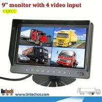 2013 hot sale! 9 inch big screen flip down car tv monitors for van for van